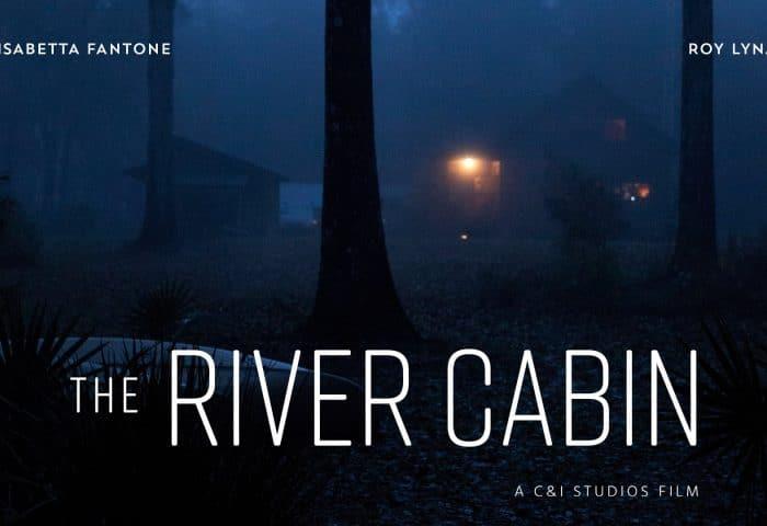 The river cabin landscape poster